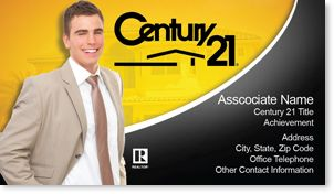 Real Estate Agents Business Card Century Century - Century 21 business cards template