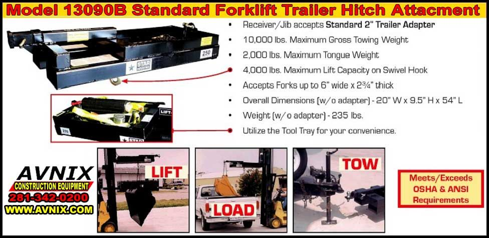 Affordable Trailer Hitch Attachment For Forklift At