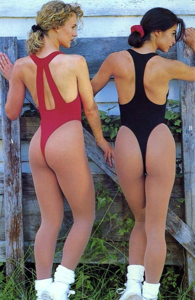 Women wearing pantyhose boots leotards