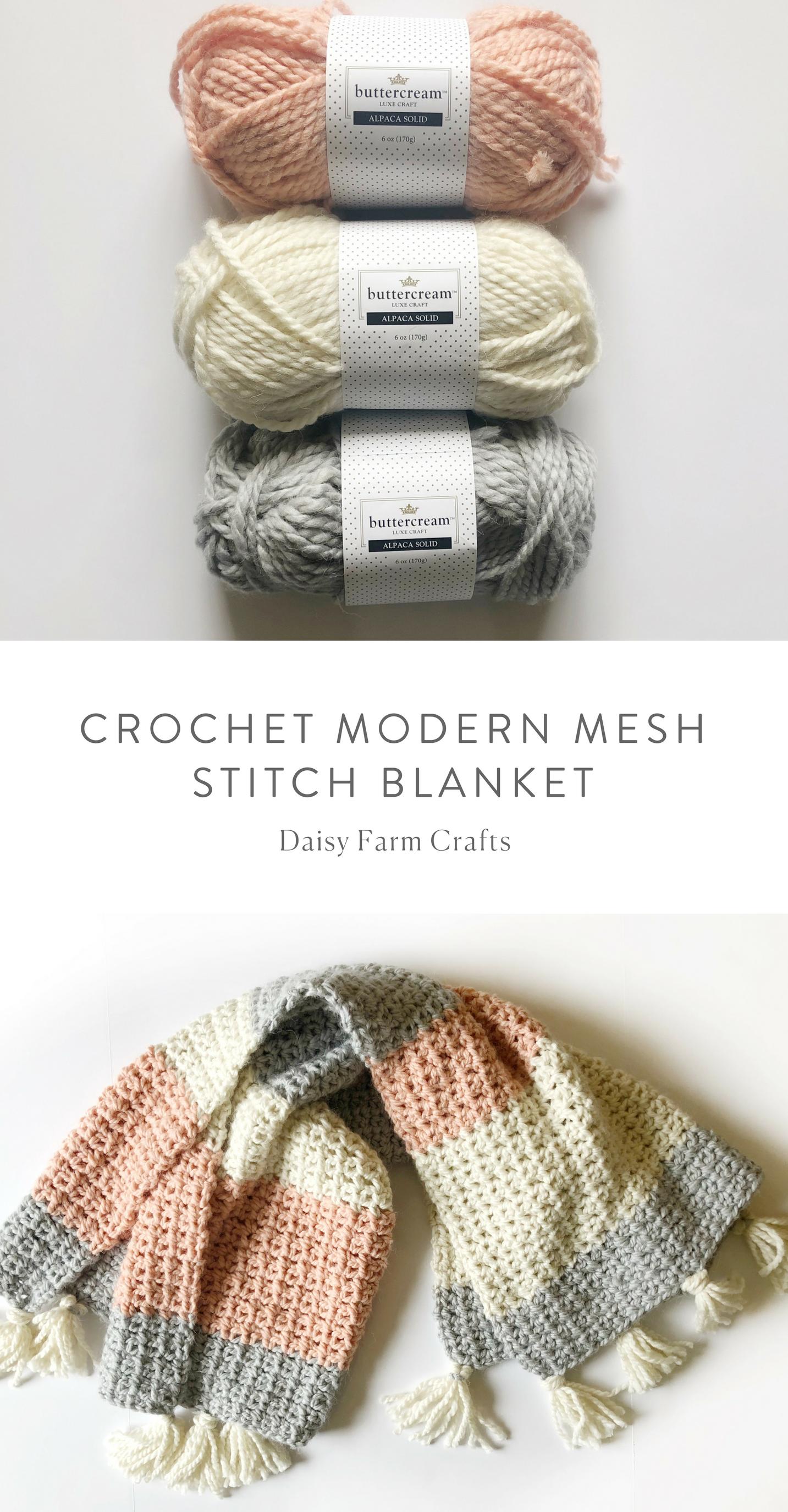 Free Pattern - Crochet Modern Mesh Stitch Blanket #crochet ...