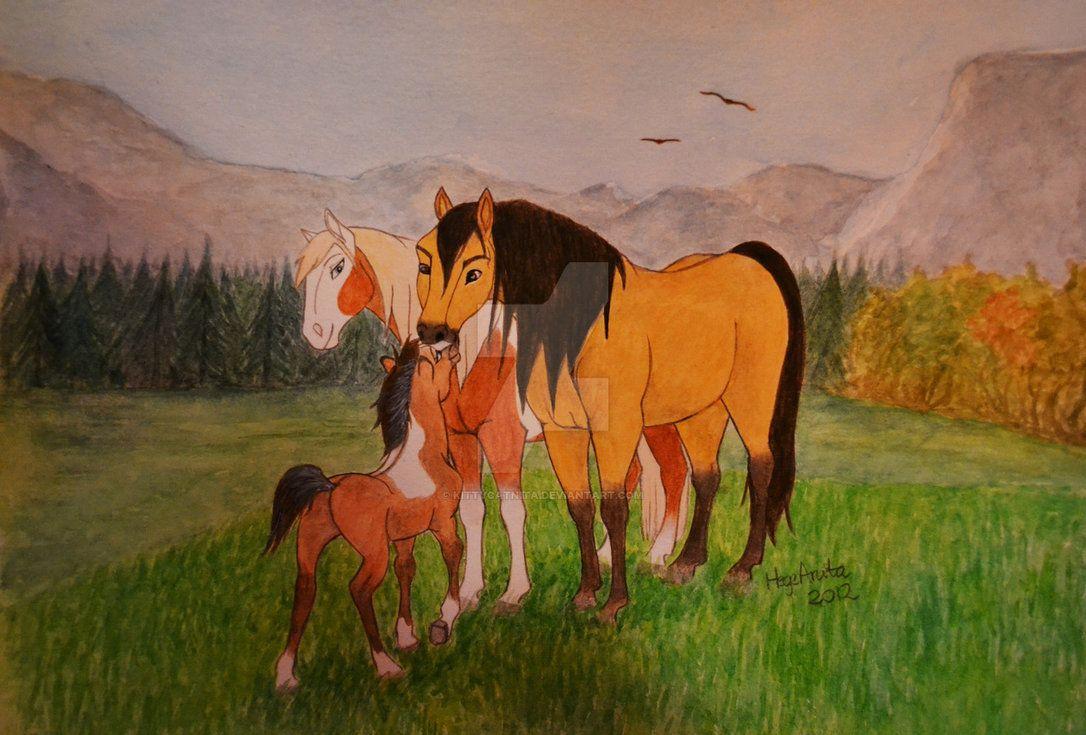 Картинки лошадей рисунки спирита