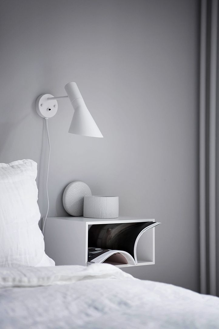 Eine Graue Wand Im Schlafzimmer. Www.kolorat.de #KOLORAT #Wandfarbe #Grau