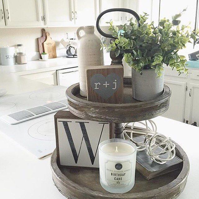 Staging Kitchen Counters: Check Out @farmfreshhomestead ! Love How Jolia Styled Our