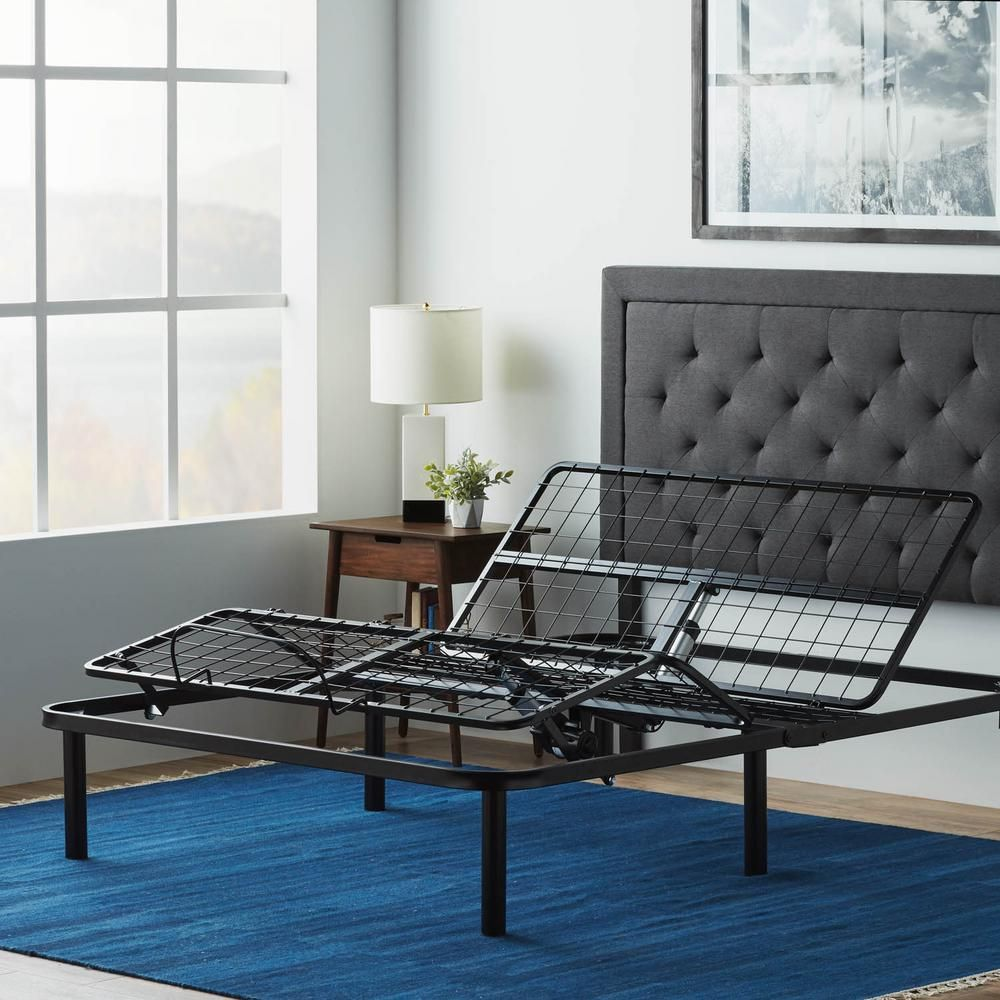 Lucid Comfort Collection Standard Adjustable Bed Base Queen