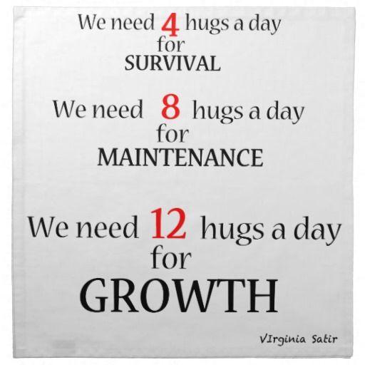 We Need Hugs Napkin Zazzle Ca I Need A Hug Stay Positive Quotes Hug