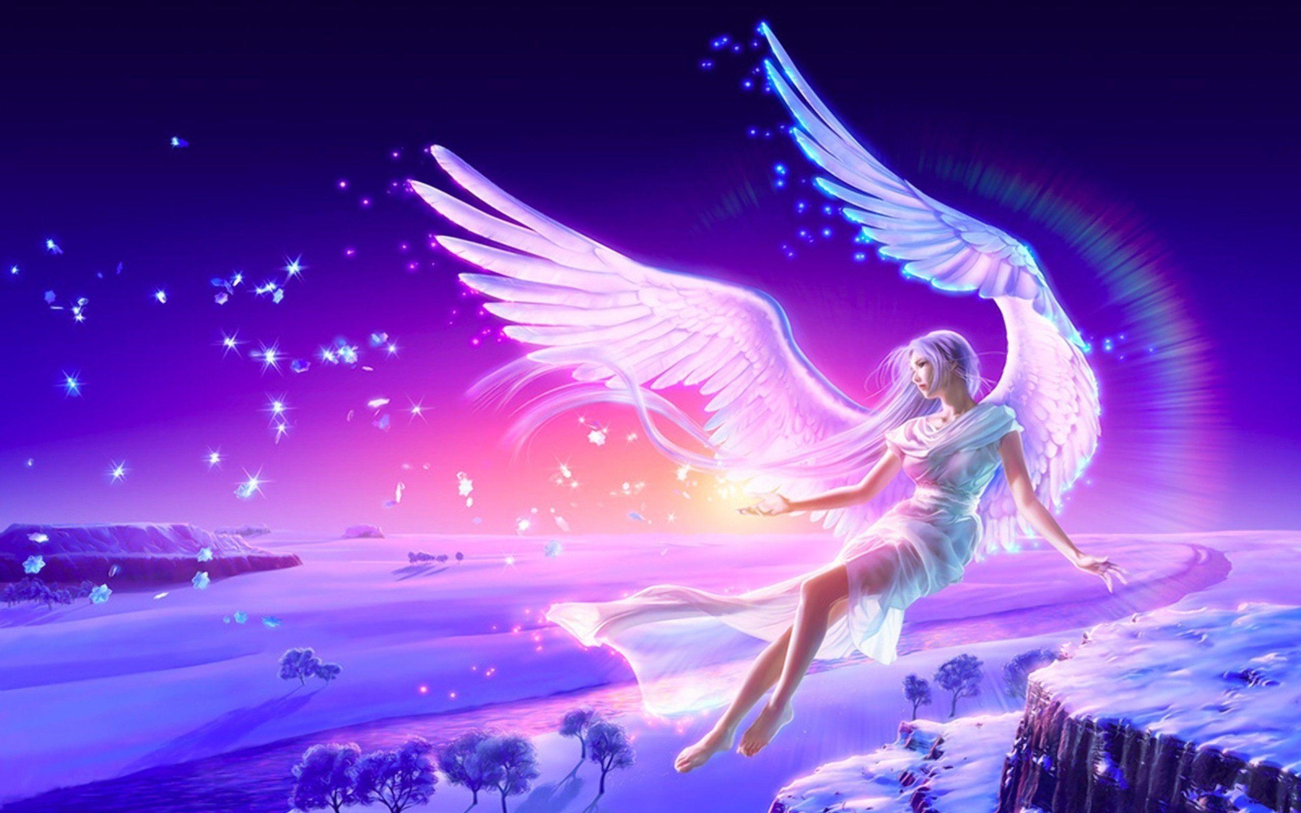 Anime girl a beautiful guardian angel anime and cartoon - Beautiful anime wallpaper hd ...