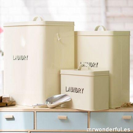 Cajas met licas para almacenaje laundry box kitchen - Botes almacenaje cocina ...