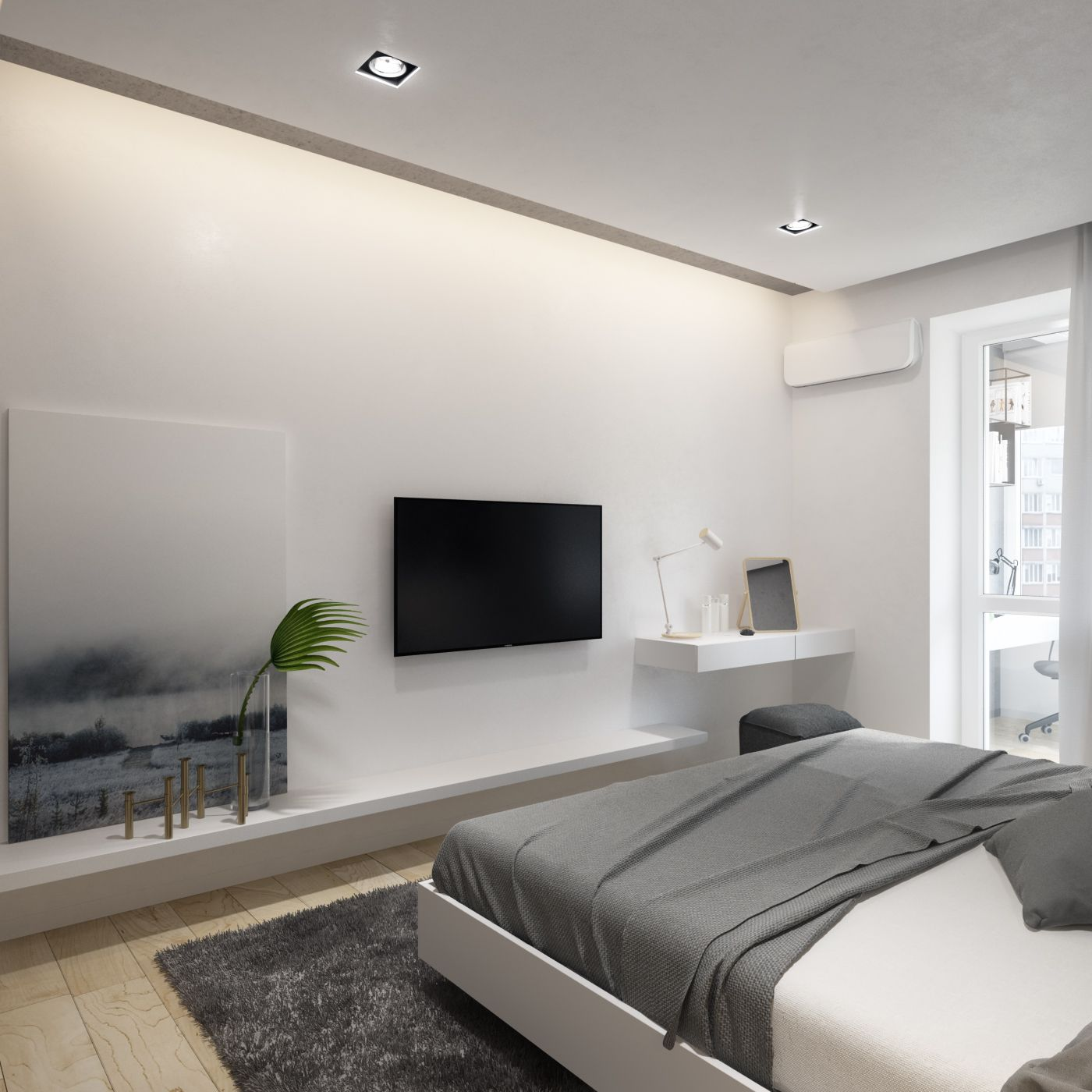 Modern 1 Bedroom Apartment: One Bedroom Apartment, Contemporary
