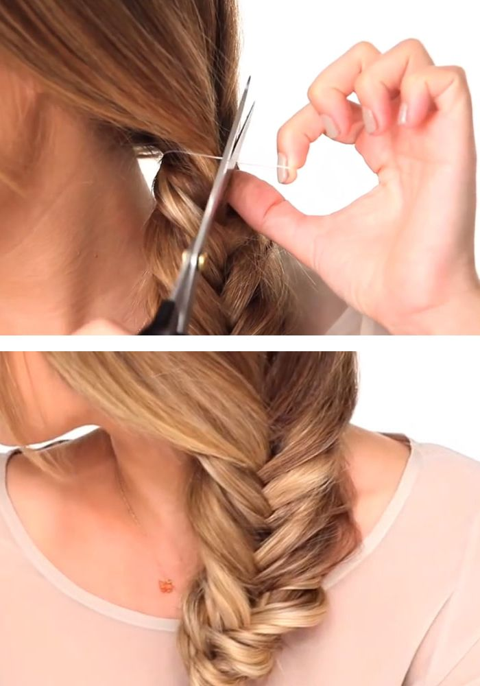 How To Do A Fishtail Braid I Did My First Ever Fishtail With These