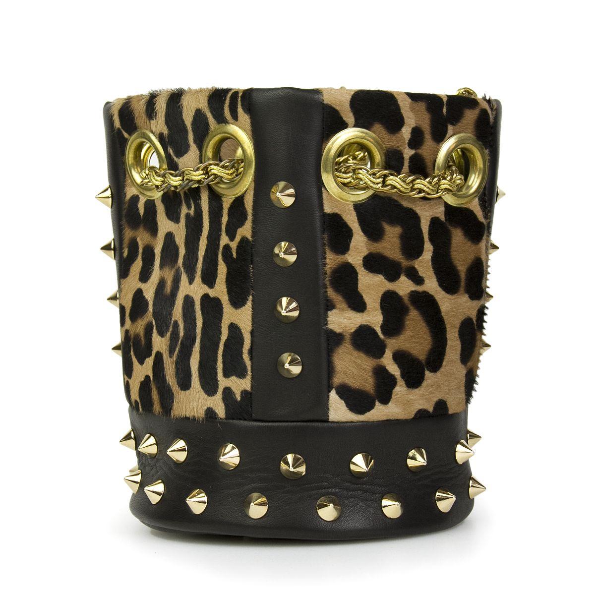 - Delphine Delafon cavallino leopardskin studded sac