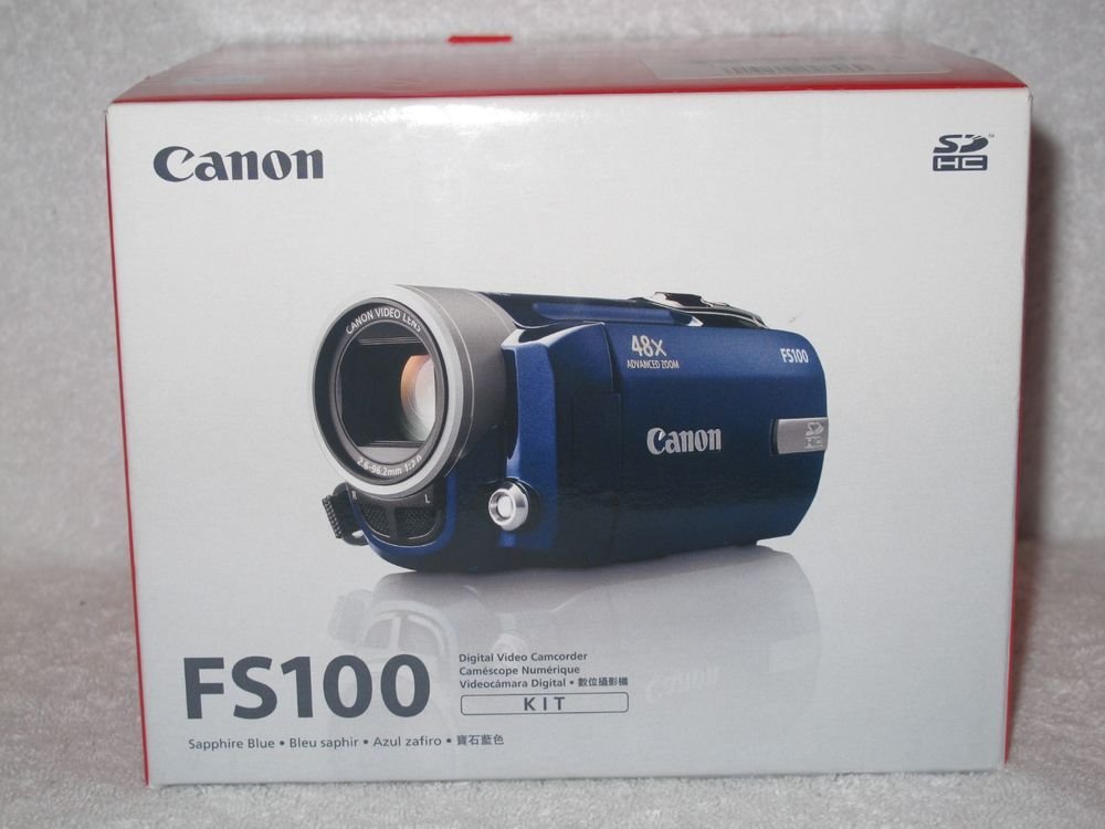 Canon FS100 Digital Video Camcorder Kit | eBay items for