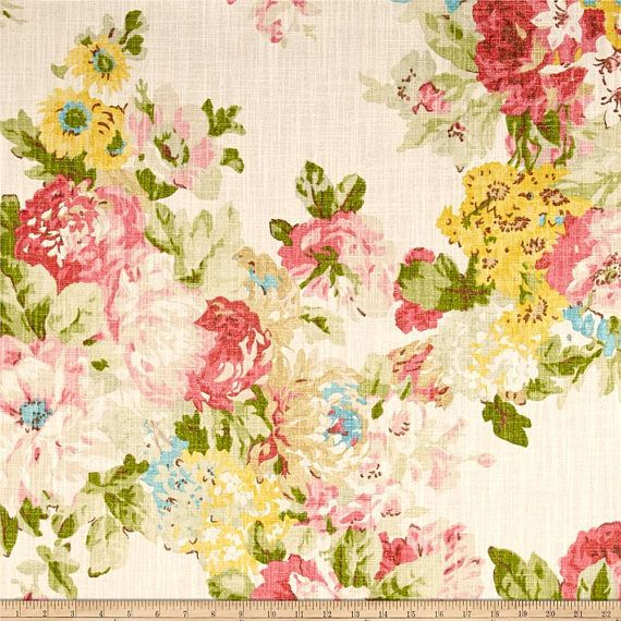 Waverly Juliet Spring Drapery Panels Waverly Fabric French Floral Fabric Waverly Bedding