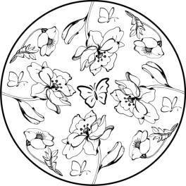 Mandala Blumen, Malvorlage | coloring | Pinterest