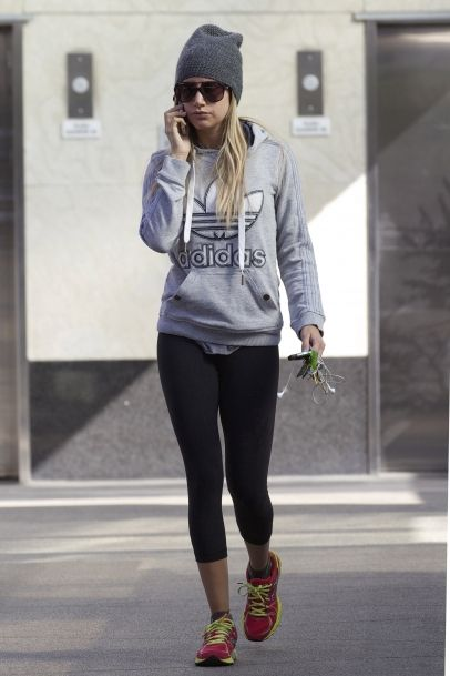 Ashley Tisdale hits Equinox Gym in Beverly Hills, CA. #workout #gym #style