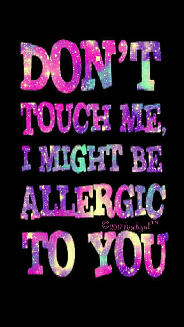 Allergic galaxy iPhone/Android wallpaper I created for CocoPPa.  ABC words  Dont touch my