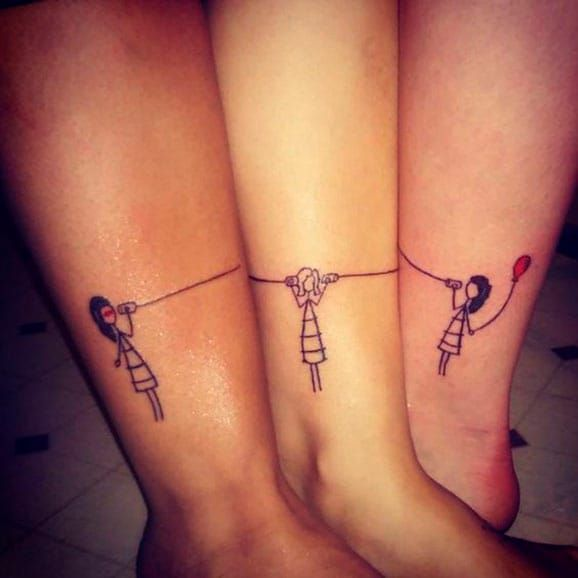 26 Perfectly Sublime Tattoo Designs For Sisters Or Best Friends ...
