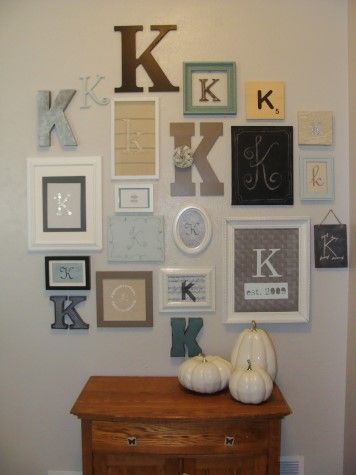 My Wall Of Ks Diysisters Letter Wall Decor Decor Letter Wall
