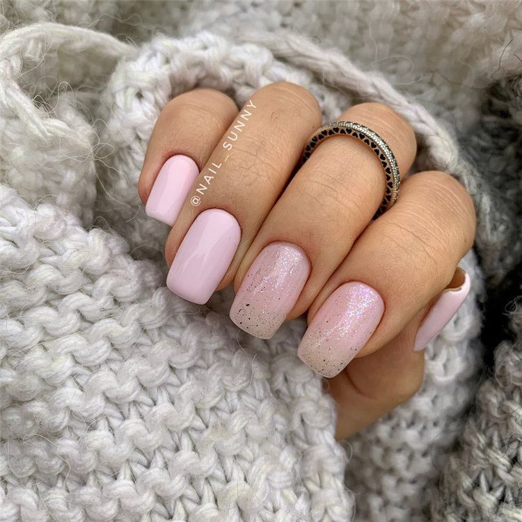 Simple Pink Tapered Square Medium Short Acrylic Nails In 2020 Pink Nails Square Acrylic Nails Acrylic Nails