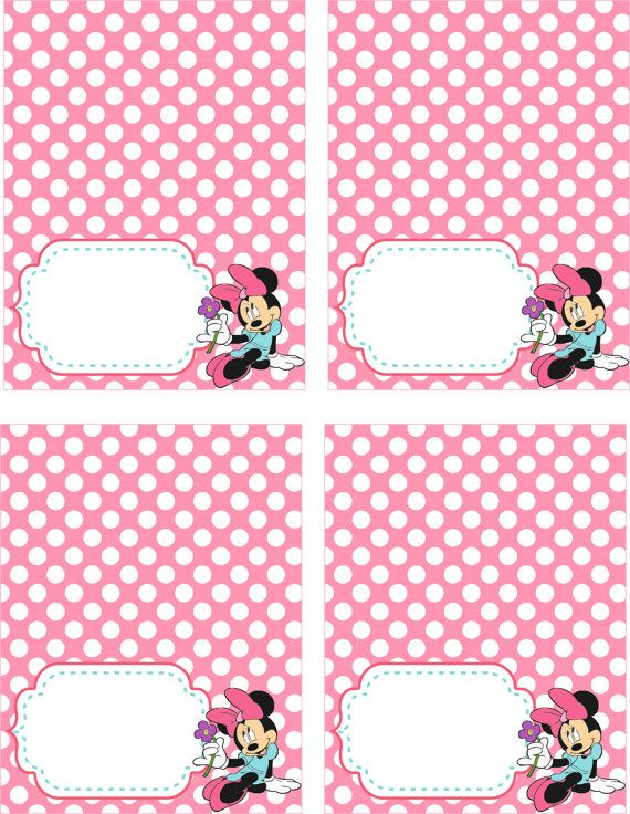 80 OFF SALE Disney Minnie Mouse Food Tents By Allforparty