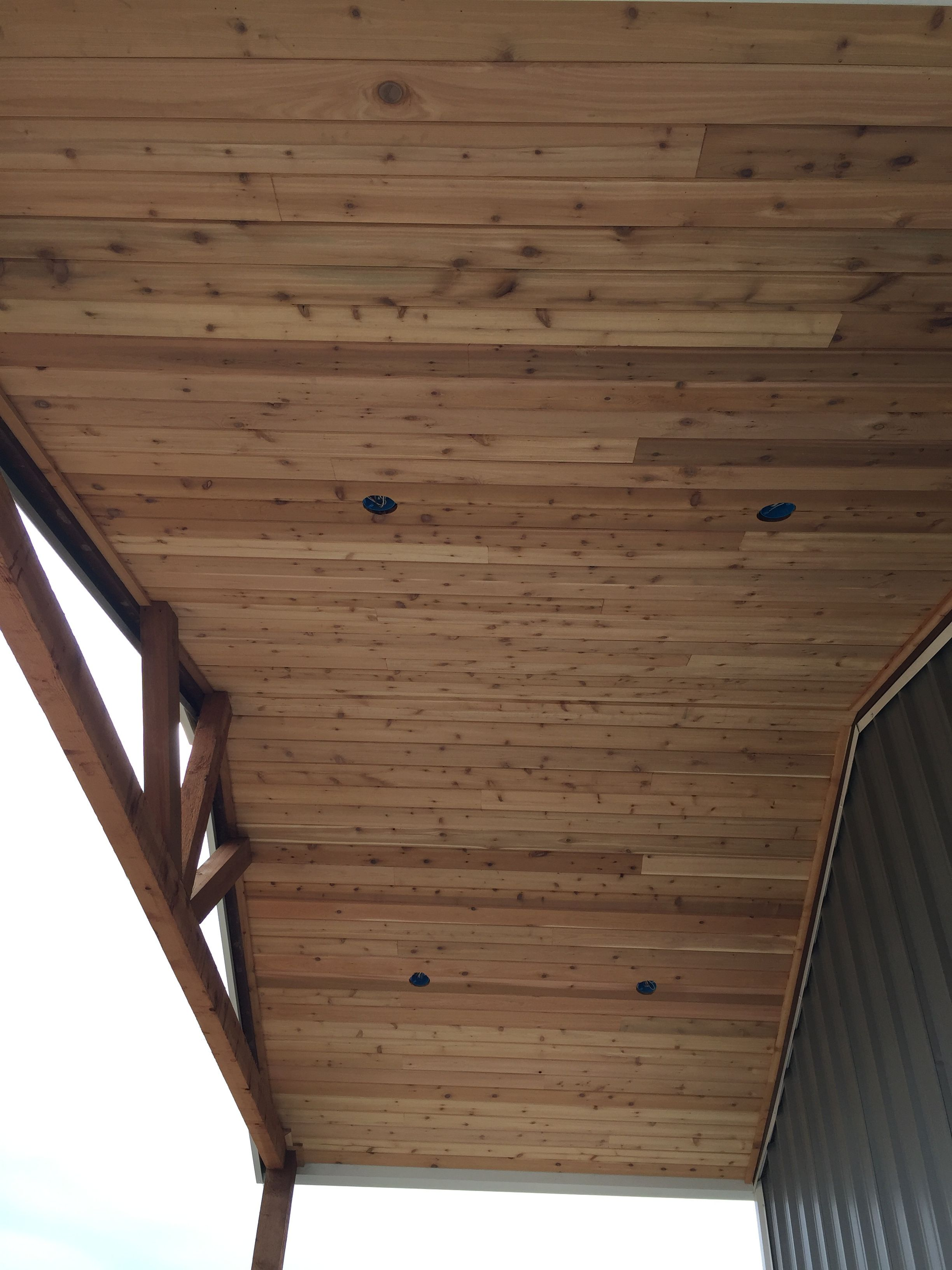 Royal wood tongue and groove panels - Tongue And Groove Cedar Panels On Back Porch