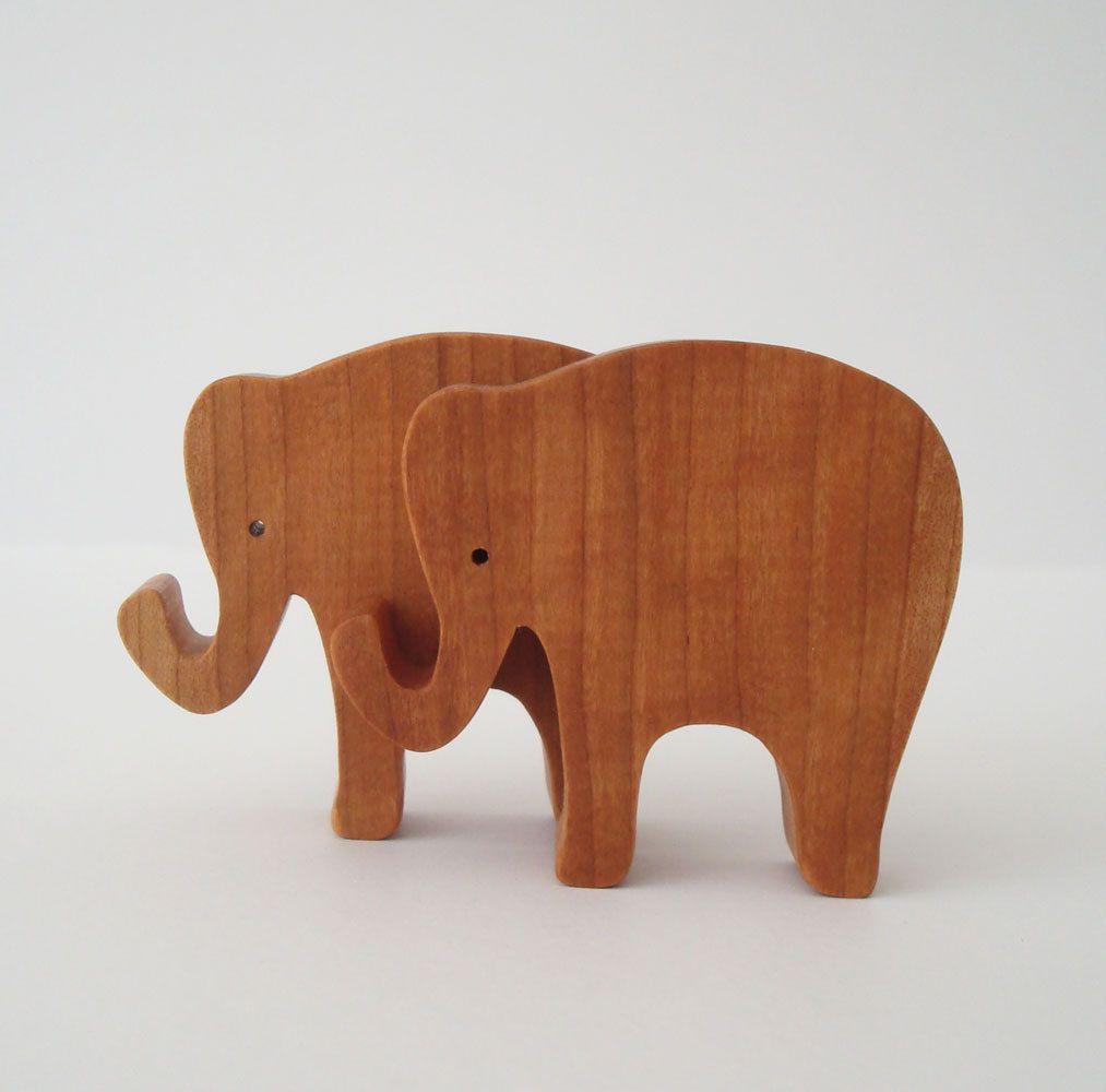 toy elephants wooden miniature noah's ark zoo play set hand