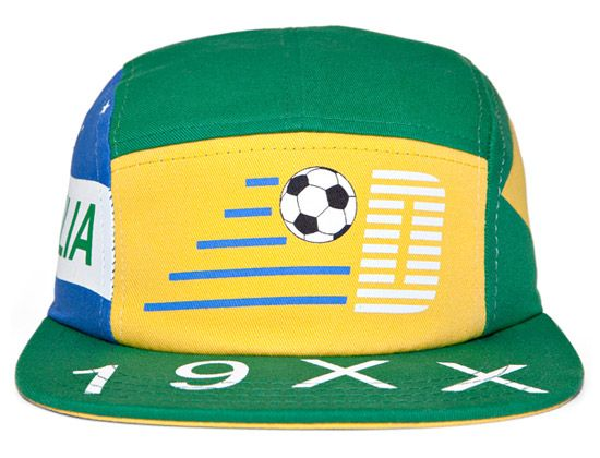 Brazil World Cup 5 Panel Cap by THE DECADES