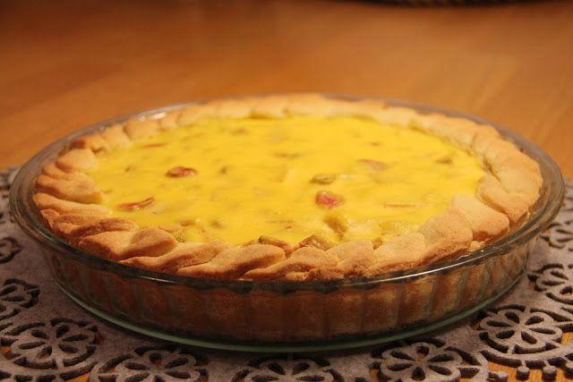 yummy muffin: Rebarborovo-hruškový koláč