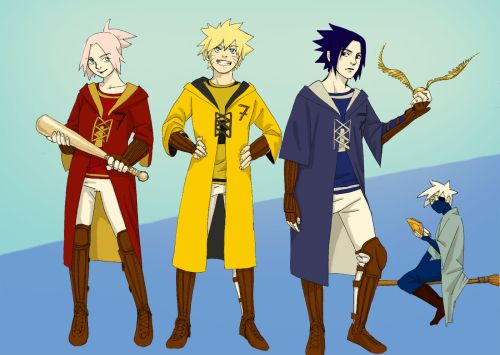 Naruto And Hogwarts Crossover Anime Anime Love Zelda Characters