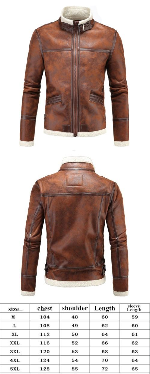 Men Coats And Jackets: Mens Genuine Lambskin Leather Jacket Brown Slim Fit Motorcycle Jacket BUY IT NOW ONLY: $38.99