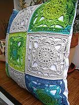 Úžitkový textil - Háčkovaný vankúš  - 4440403_