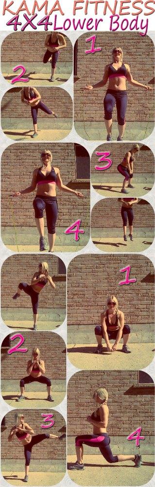 4X4 Cardio vs Strength: Lower Body