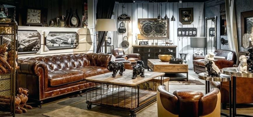 Deco salon industriel ambiance industrielle ceq salon - Deco industrielle salon ...
