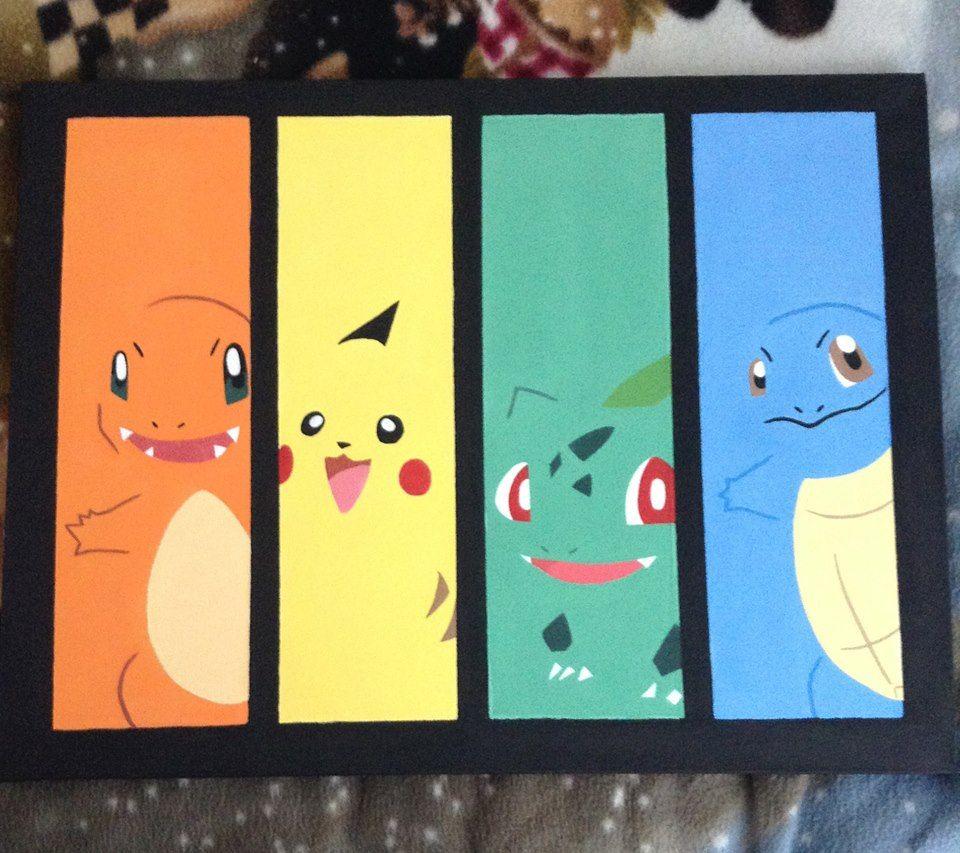 Pokemon acrylic painting kinderzimmer pinterest for Anime zimmer deko