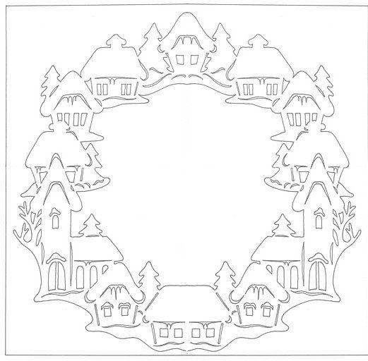 Вытынанки шаблоны трафареты снежинки  vk  christmas