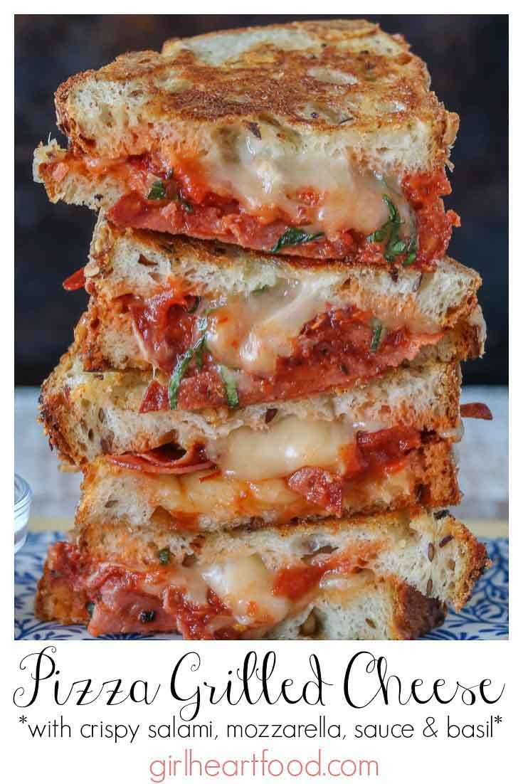 Pizza Grilled Cheese {an easy lunch idea!}