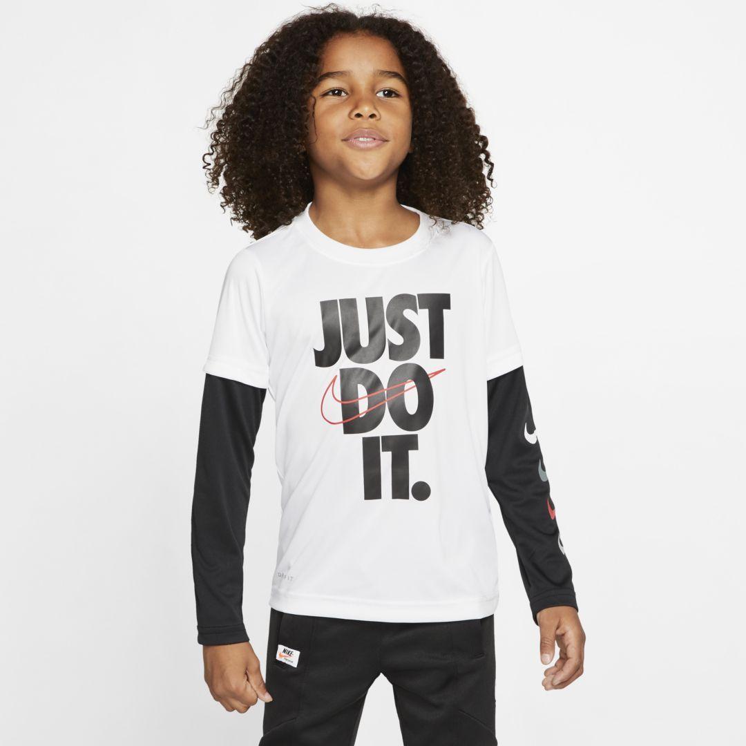 Nike drifit little kids longsleeve tshirt in