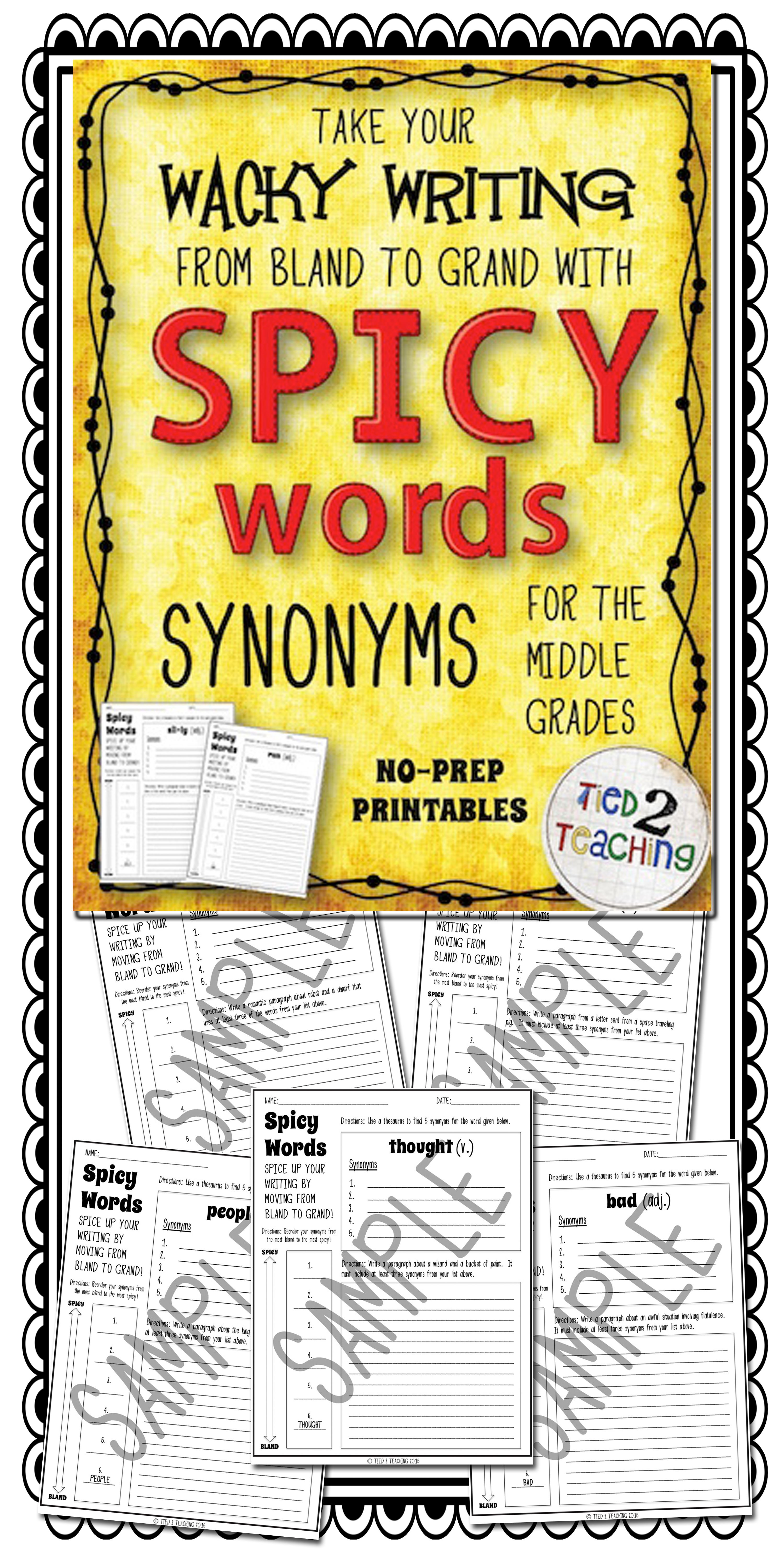 Synonyms Middle Grades