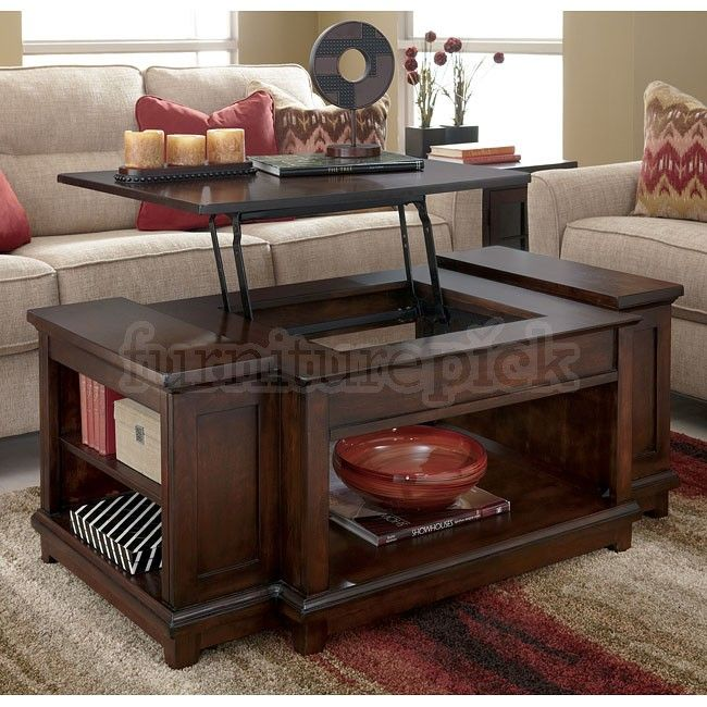 IKEA Lift Top Coffee Table | Hodgenville Lift Top Cocktail Table Details
