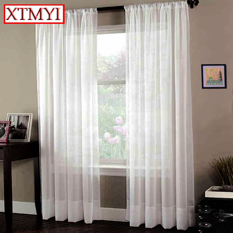 Japan Window Treatment Soild Tulle Curtains For Living Room White Captivating White Kitchen Curtains Decorating Design
