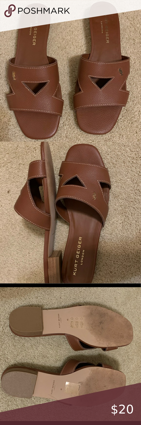 Kurt Geiger Sandals Only worn once. Really similar to the Hermès sandals that all the influencers wear. Kurt Geiger Shoes Sandals