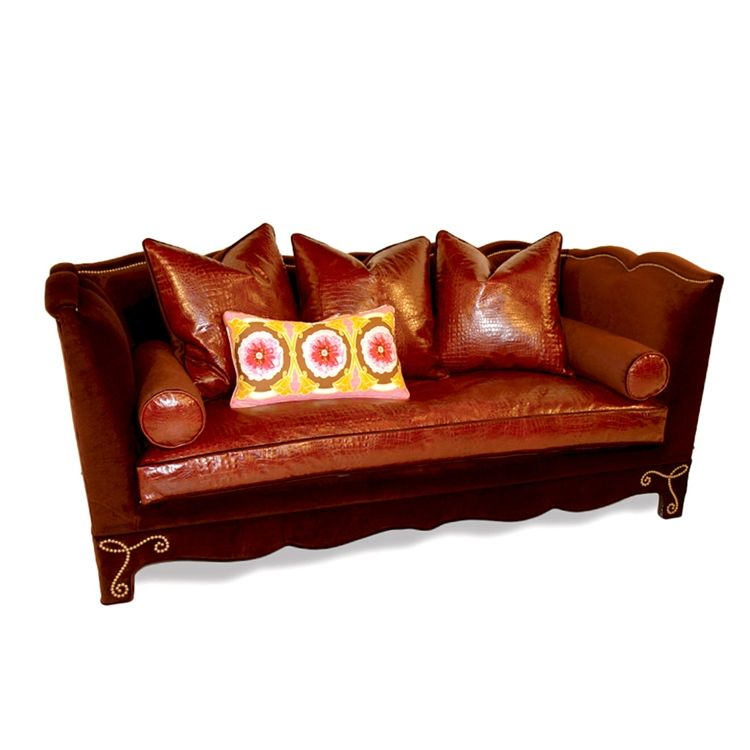 Best Brown Velvet And Vinyl Sofa Santana Brown Sofa 640 x 480