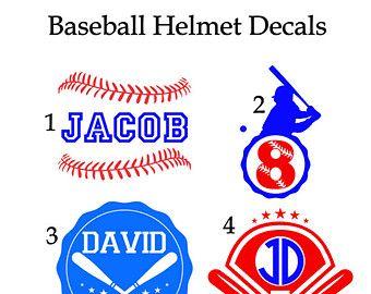 Baseball Helmet Decal Personalized Baseball Helmet Decal Helmet - Custom vinyl stickers for helmets