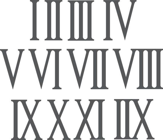 Roman Numerals 1 12 6 5 Tall Laser Cut From 1 2 Mdf