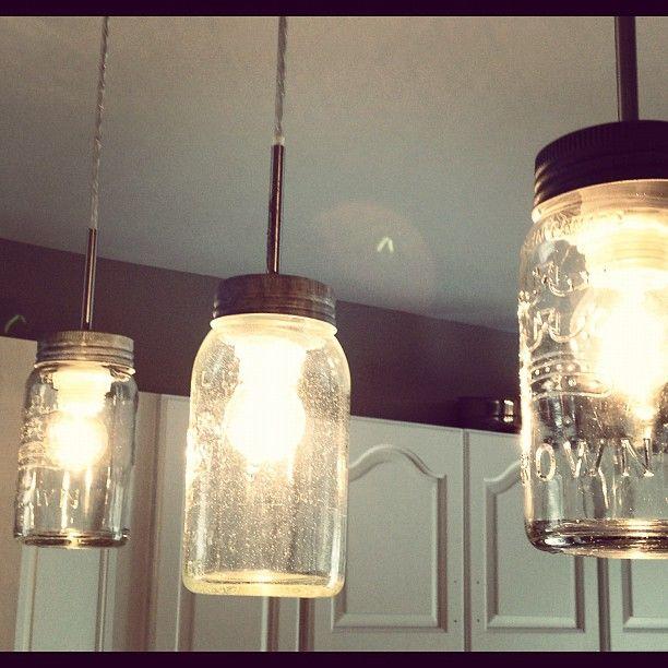 DIY Mason Jar Light Fixture # Pinterest++ For IPad