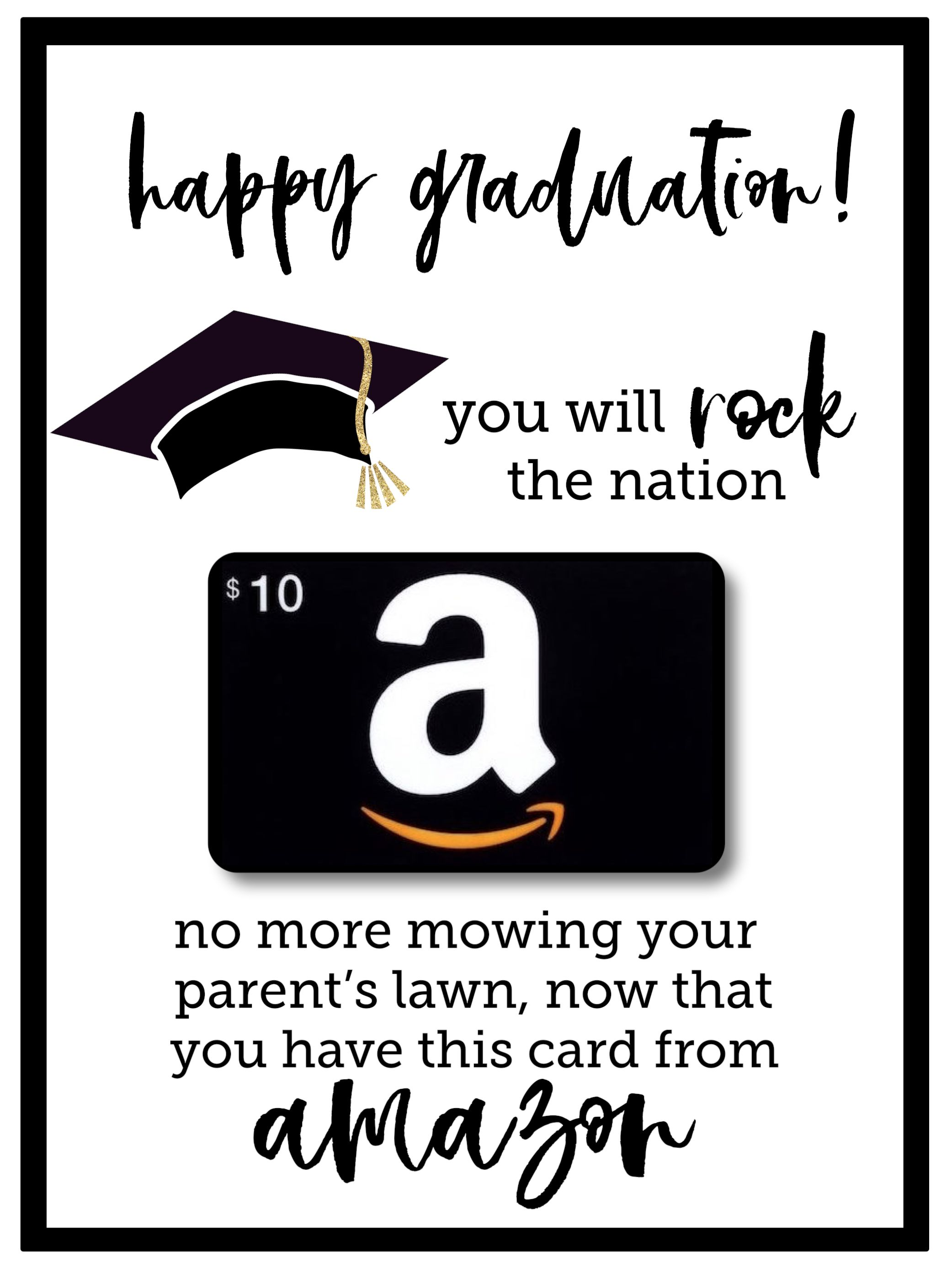 Free Printable Graduation Card Hy Funny Diy Template Gift Holder High School