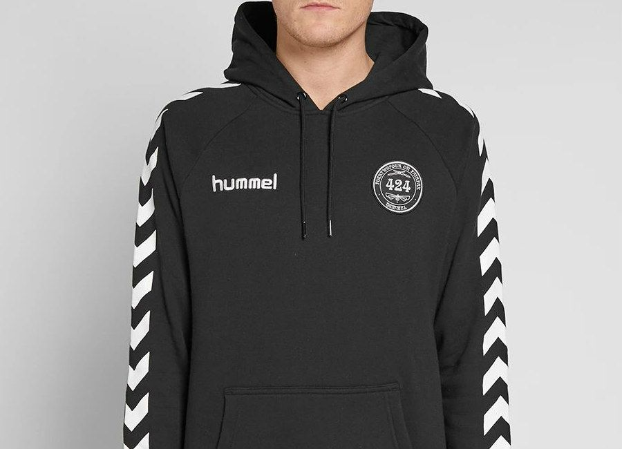 2dcc7f66b60 424 X Hummel Terry Cotton Hoody - Black | FootballShirtCulture in ...