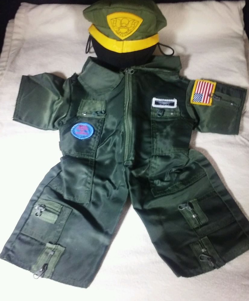 Bear Forces of America USAF Flight suit Airforce & US Army officer Cap Cover Hat #Patriotic
