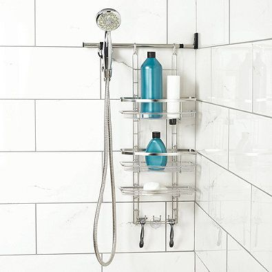 Zenna Make A Space Side Mount Shower Caddy With Its Space Saving