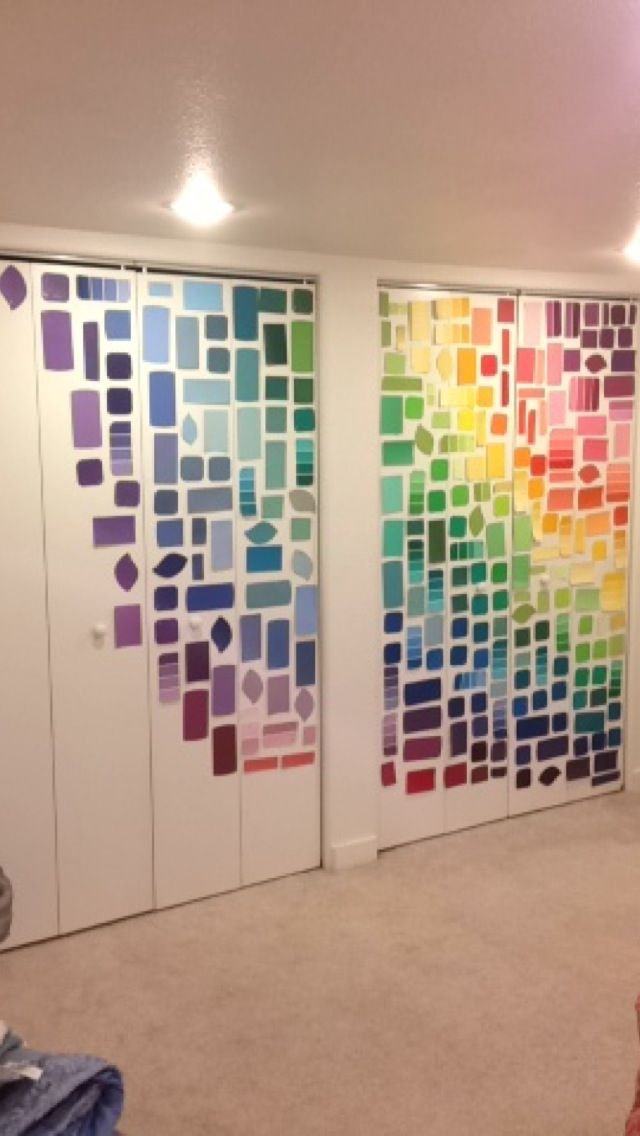 Colorful paint swatch wall!