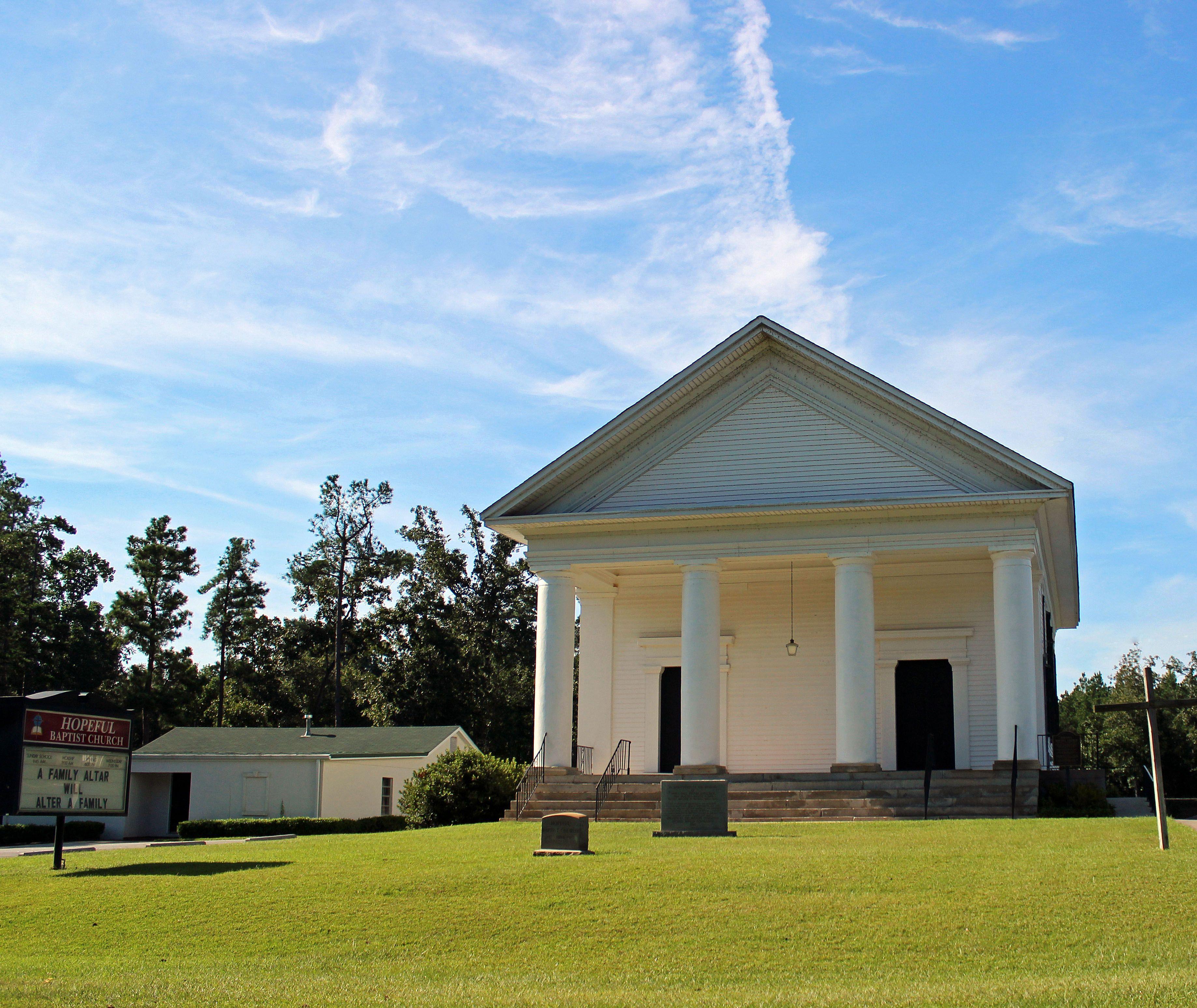 Hopeful Baptist Church, Burke County, GA. Organized 1814